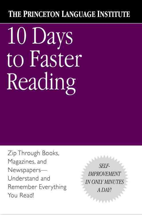 10 Days to Faster Reading By Marks-Beale, Abby